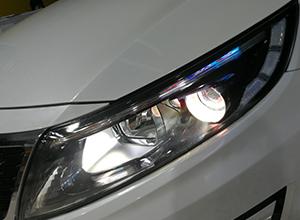 起亚K5车灯改装